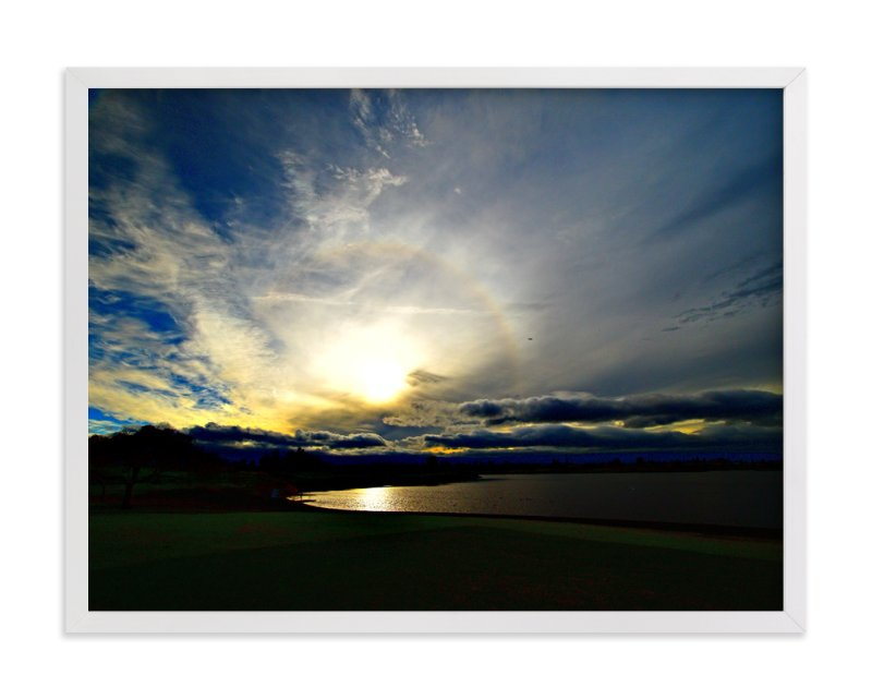 """Through clouds"" - Art Print by NSMARK in beautiful frame options and a variety of sizes."