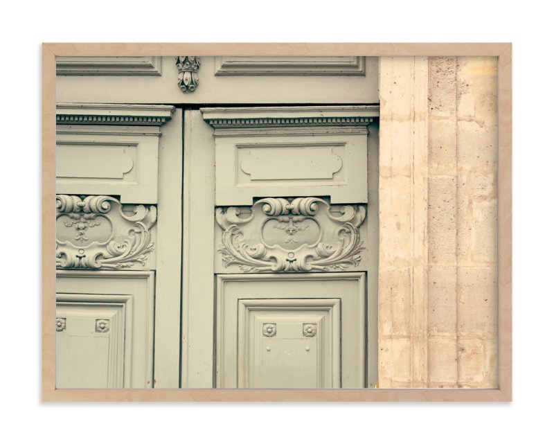 \ Mint Parisian Door\  - Art Print by Caroline Mint in beautiful frame options and  sc 1 st  Minted & Mint Parisian Door Wall Art Prints by Caroline Mint | Minted