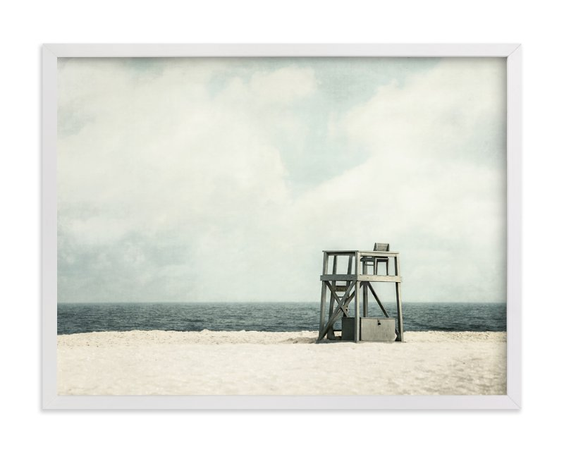 """""""Gray Guard Chair"""" - Art Print by Pamela Viola in beautiful frame options and a variety of sizes."""