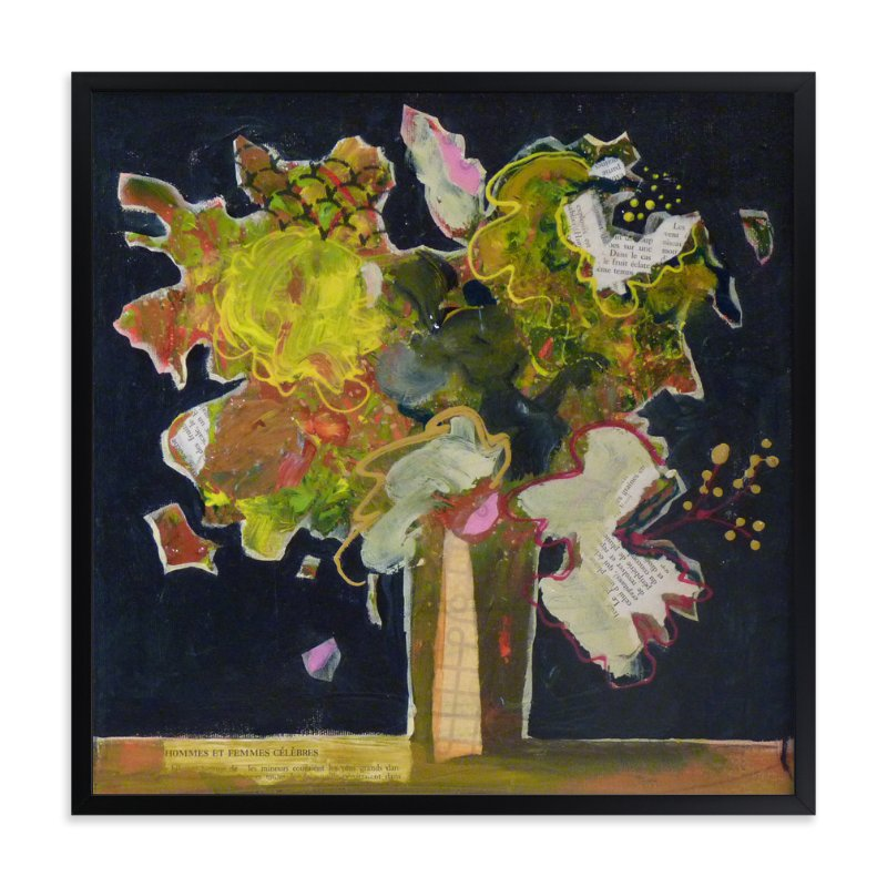 """A famous bouquet"" - Art Print by Johanne Roy in beautiful frame options and a variety of sizes."