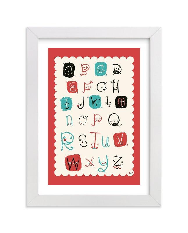"""ABC Friends"" - Limited Edition Art Print by ERAY in beautiful frame options and a variety of sizes."