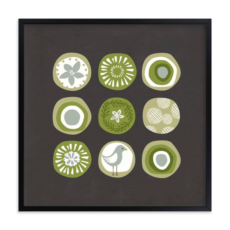 """Sea Circles"" - Art Print by Griffinbell Paper Co. in beautiful frame options and a variety of sizes."