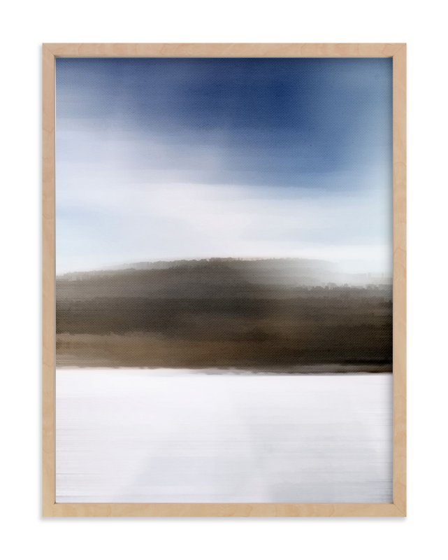 """Horizon Series Frost"" - Art Print by Jennifer Morehead in beautiful frame options and a variety of sizes."