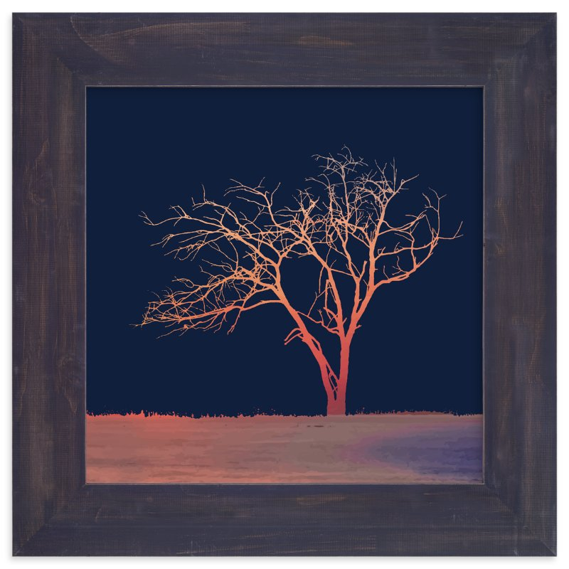 """Sunset Tree"" - Art Print by Erin Niehenke in beautiful frame options and a variety of sizes."