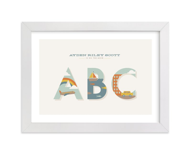 """On the Move"" - Nursery Custom Art Print by Amber Barkley in beautiful frame options and a variety of sizes."