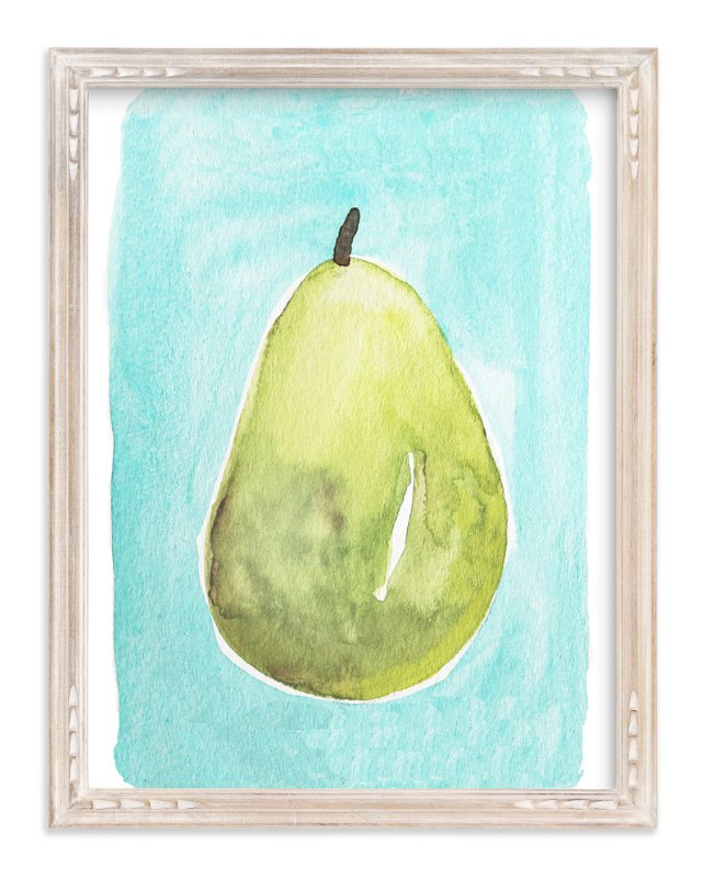 Watercolor Pear Wall Art Prints by Megan Kelso | Minted