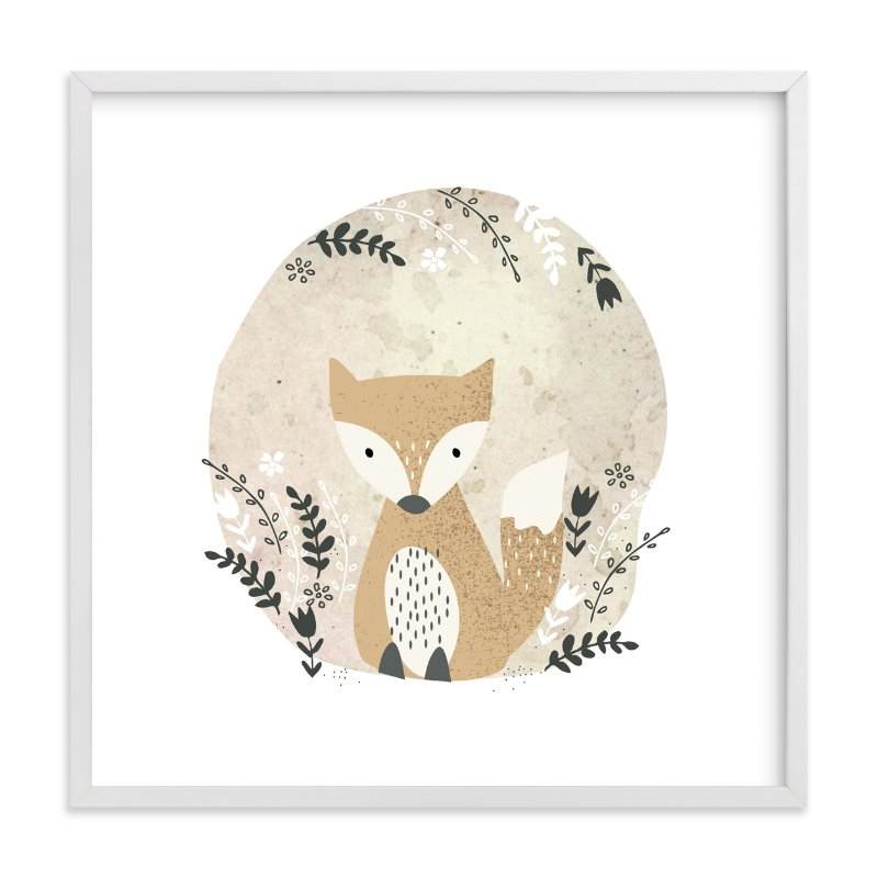 """Woodland - Fox"" - Limited Edition Art Print by Oma N. Ramkhelawan in beautiful frame options and a variety of sizes."
