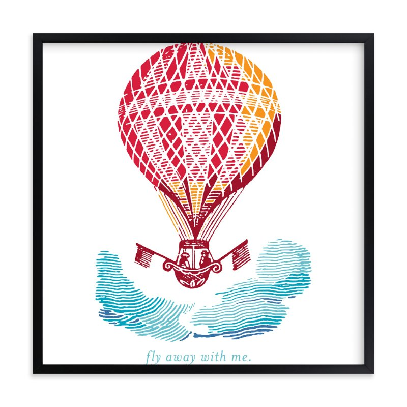 """Fly Away With Me"" - Art Print by Laura McCarty in beautiful frame options and a variety of sizes."