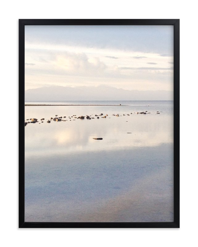 """""""White Lake"""" - Art Print by Gaucho Works in beautiful frame options and a variety of sizes."""