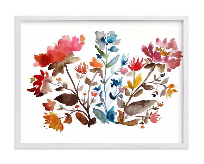 """island wildflowers no.1"" - Art Print by Kiana Mosley in beautiful frame options and a variety of sizes."
