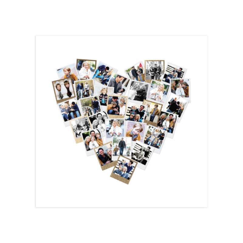 """""""Heart Snapshot Mix"""" - Foil Pressed Photo Art Print by Minted."""