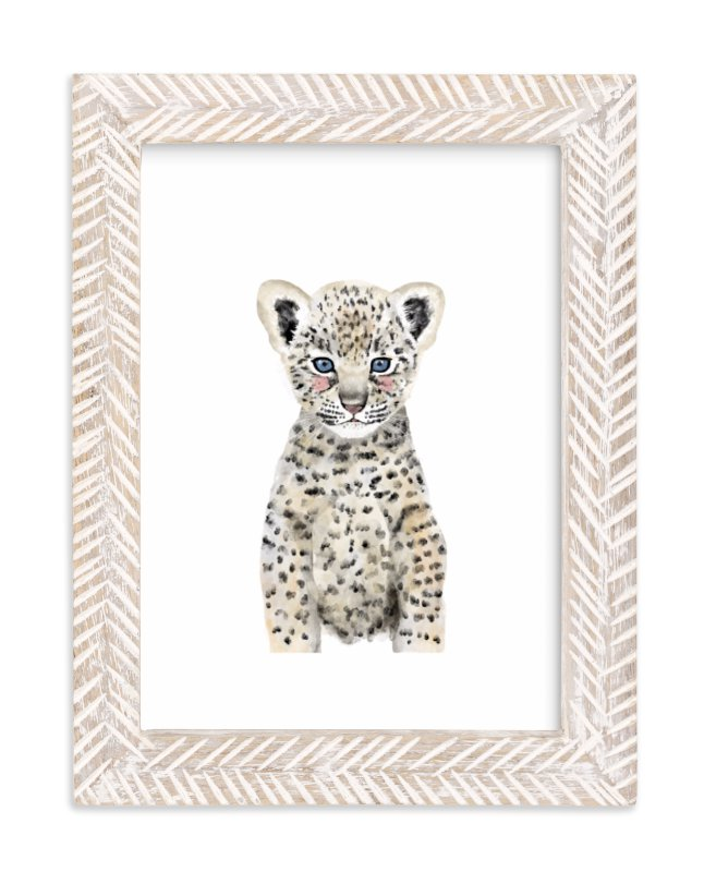 """""""Baby Animal Leopard"""" - Art Print by Cass Loh in beautiful frame options and a variety of sizes."""