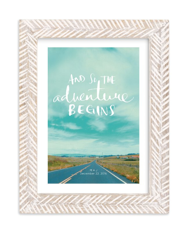 """Love Is An Adventure"" by SylvieCeres Designs in beautiful frame options and a variety of sizes."