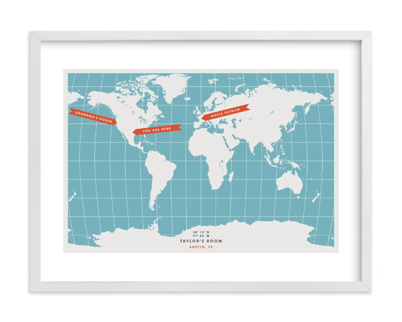 """You are Here"" - Children's Custom Art Print by Michelle Roman in beautiful frame options and a variety of sizes."