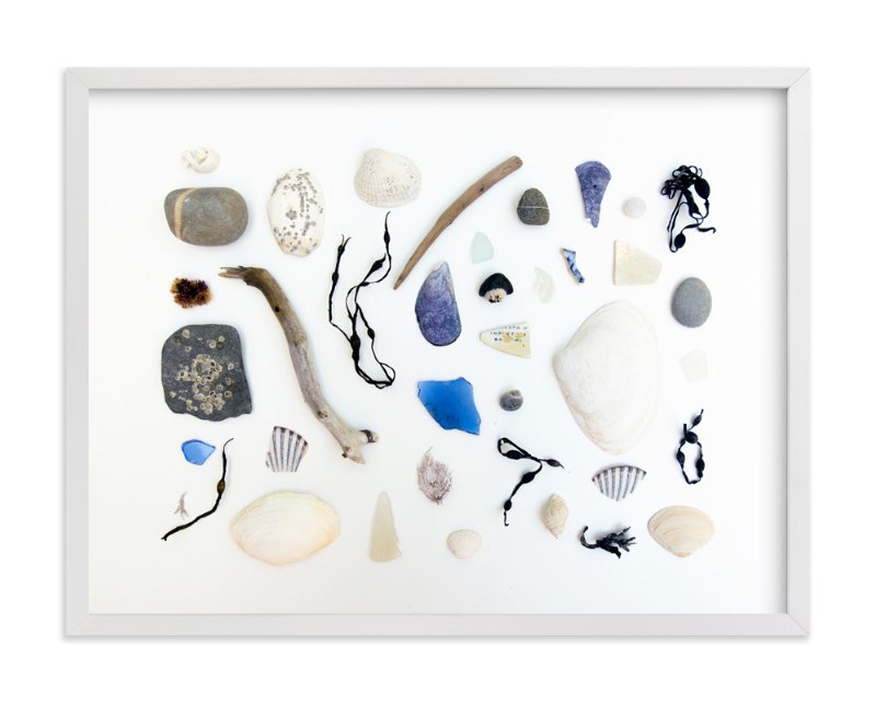 """Monday Seaside"" - Art Print by Christina Flowers in beautiful frame options and a variety of sizes."