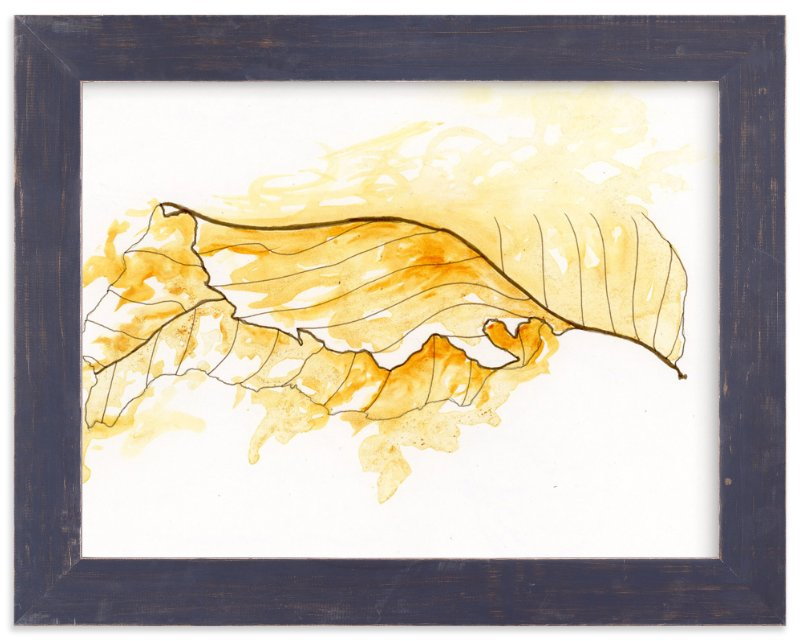 """Gold Leaf"" - Art Print by Emily Magone in beautiful frame options and a variety of sizes."