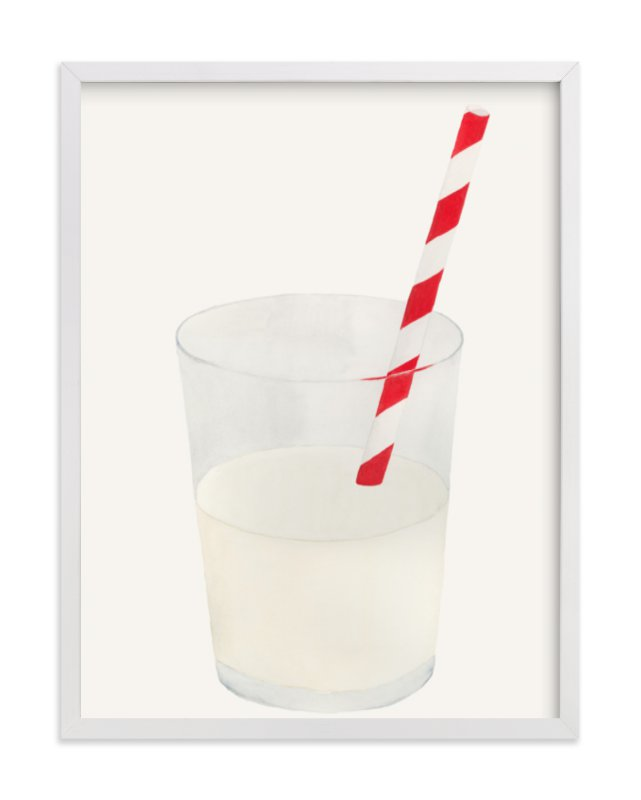"""Whole Milk"" - Art Print by Monica Loos in beautiful frame options and a variety of sizes."