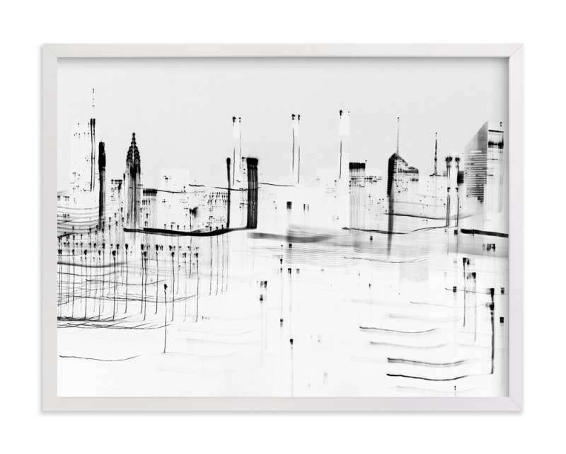 """nyc night lights "" - Art Print by Kaitlin Rebesco in beautiful frame options and a variety of sizes."