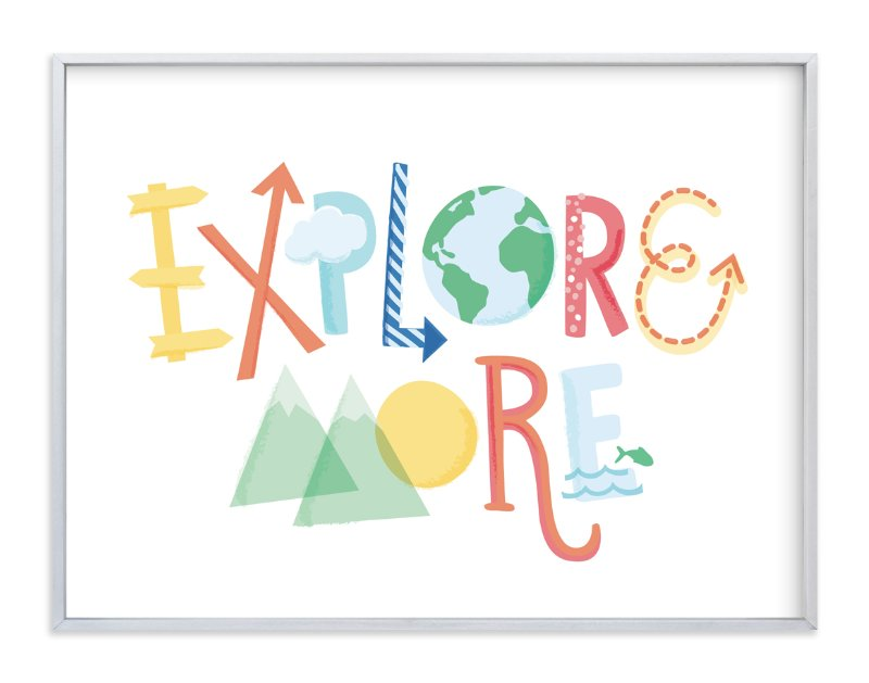 """""""Explore More"""" - Art Print by Jessie Steury in beautiful frame options and a variety of sizes."""
