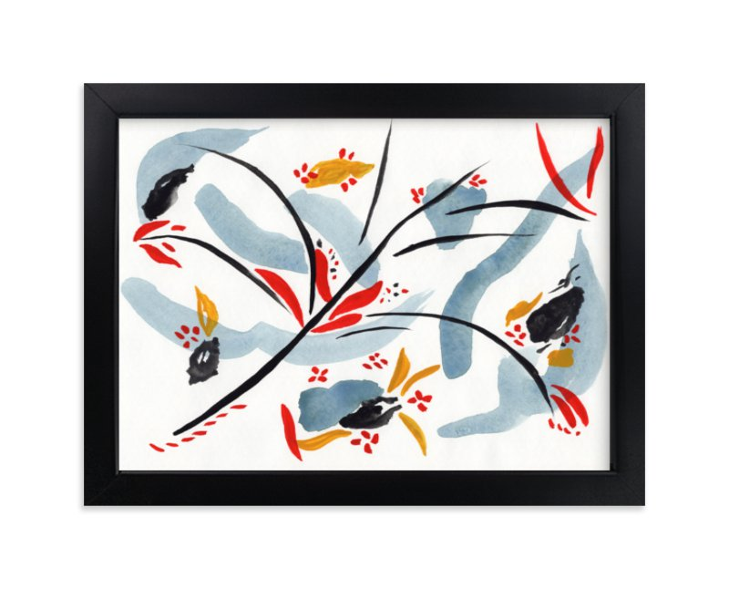 """""""Bloom on rain"""" - Art Print by FERNANDA MARTINEZ in beautiful frame options and a variety of sizes."""