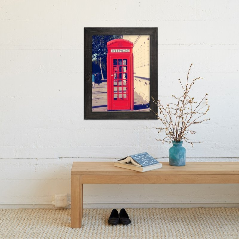 """The Red Booth"" - Art Print by lace and love notes in beautiful frame options and a variety of sizes."