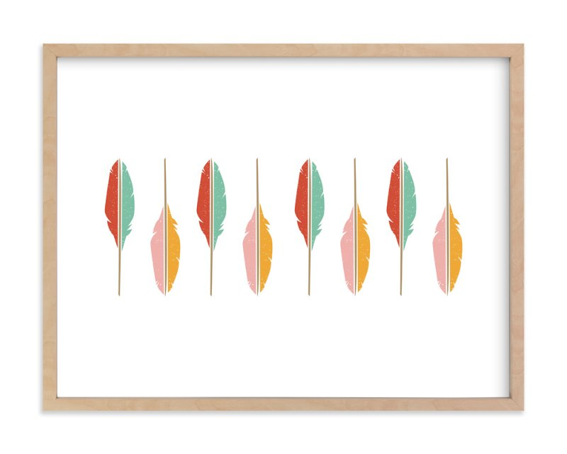"""""""Of a Feather"""" - Art Print by Hilary Buchanan in beautiful frame options and a variety of sizes."""