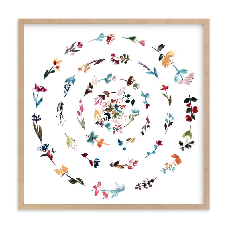 """floral mandala no.3"" - Art Print by Kiana Mosley in beautiful frame options and a variety of sizes."