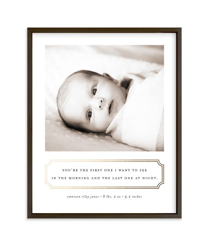 """""""First Love"""" - Foil-pressed Children's Custom Photo Art Print by Sara Hicks Malone in beautiful frame options and a variety of sizes."""