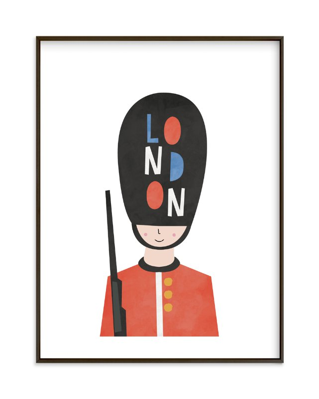 """""""Royal Guard"""" - Limited Edition Art Print by Nazia Hyder in beautiful frame options and a variety of sizes."""