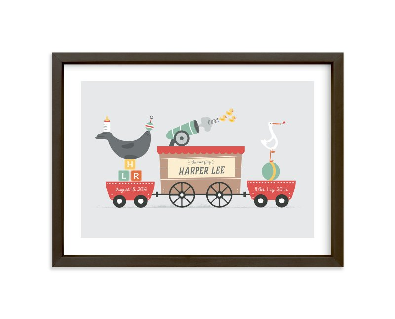 """""""The Big Top"""" - Children's Custom Art Print by Erica Krystek in beautiful frame options and a variety of sizes."""