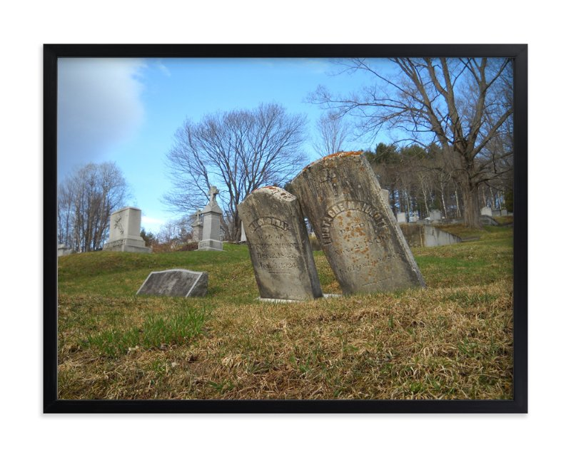 """Vermont Cemetery "" - Art Print by Kate Binns in beautiful frame options and a variety of sizes."