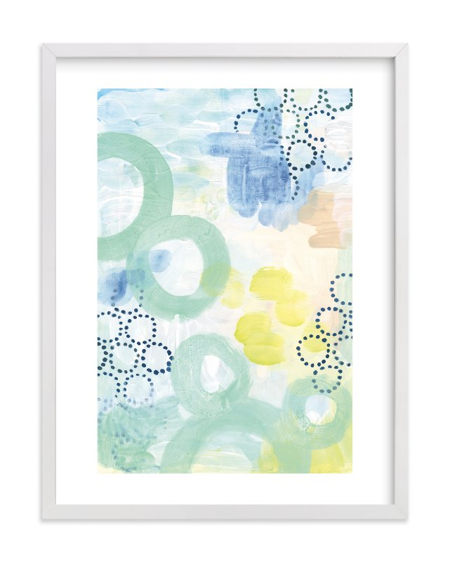 """Graphic Bubbles no.1"" - Limited Edition Art Print by Alethea and Ruth in beautiful frame options and a variety of sizes."