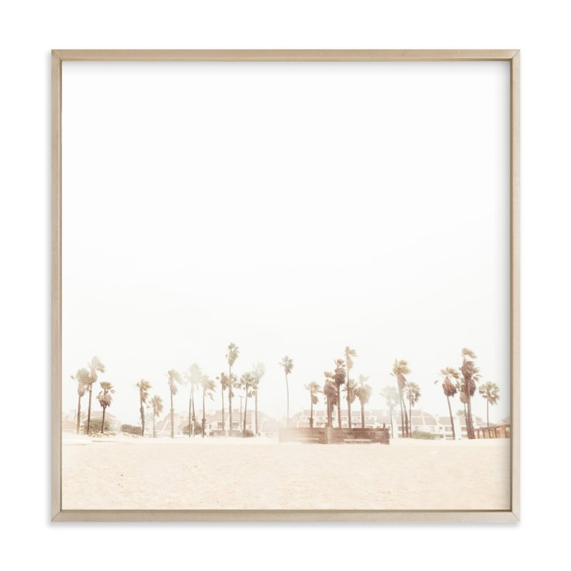 """Stormy Palms"" - Art Print by Kamala Nahas in beautiful frame options and a variety of sizes."