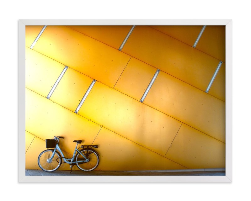 """Copenhagen Yellow"" - Art Print by Sadye Sagov in beautiful frame options and a variety of sizes."