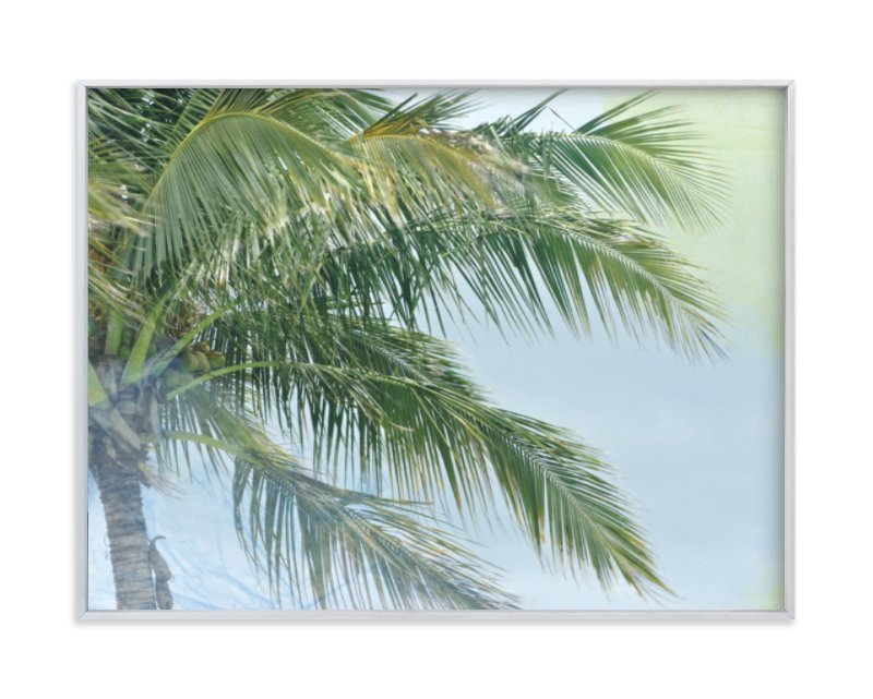 """""""Palm Tree Abstract"""" - Art Print by Gaucho Works in beautiful frame options and a variety of sizes."""