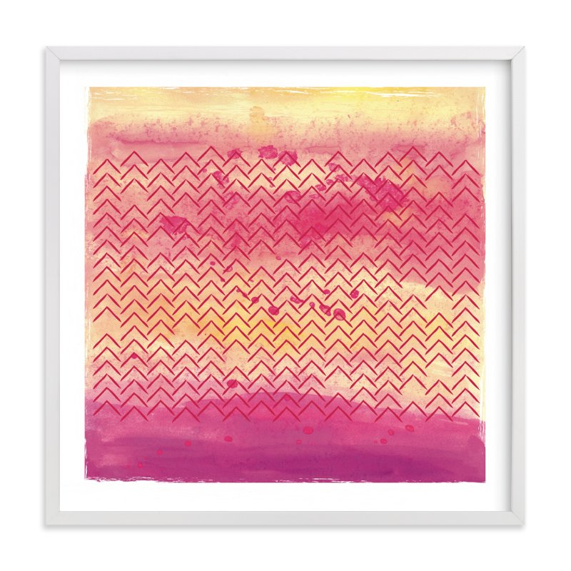 """Village Sunset"" - Art Print by Kate Ross in beautiful frame options and a variety of sizes."