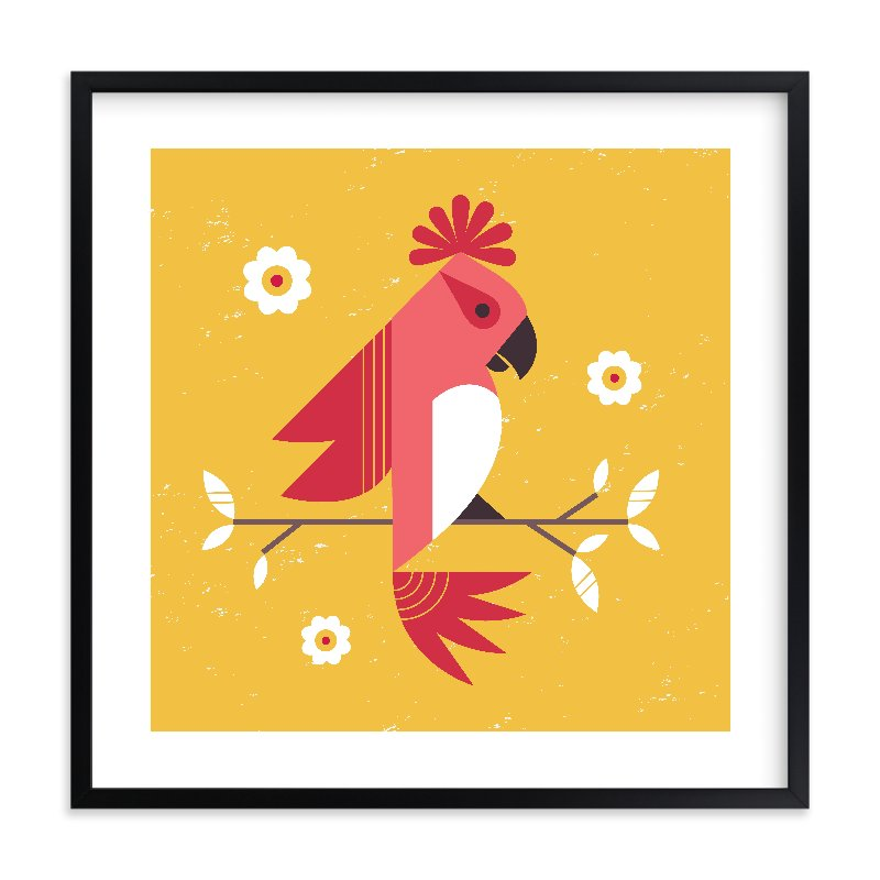 """Birds of a Feather 1"" - Limited Edition Art Print by Kristen Smith in beautiful frame options and a variety of sizes."