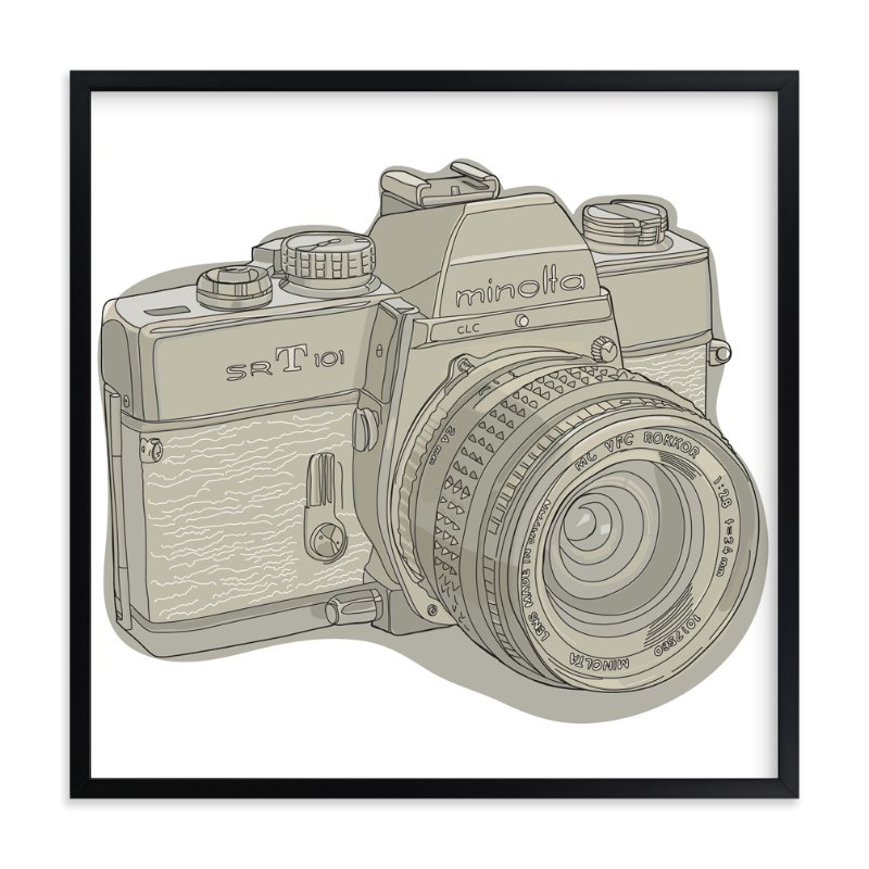 """My First Camera"" - Art Print by Becky Nimoy in beautiful frame options and a variety of sizes."