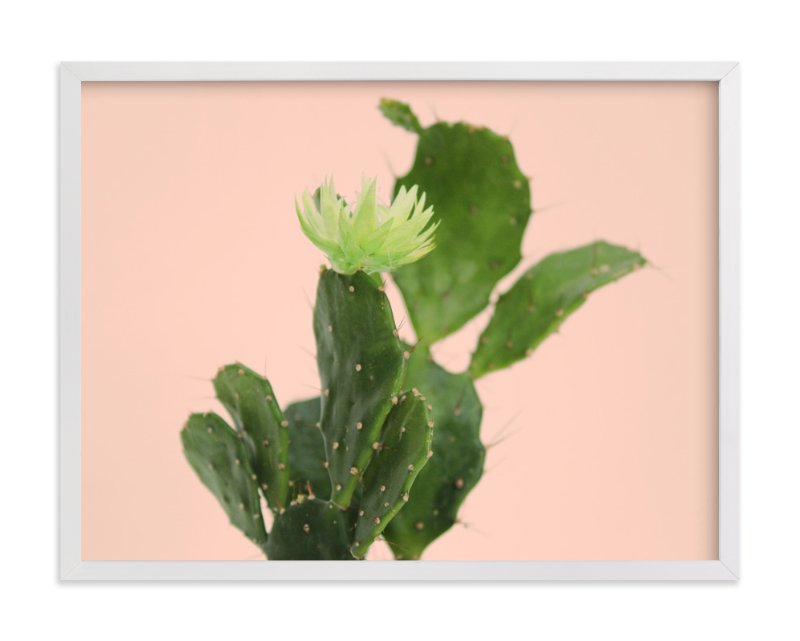 """pink cactus "" - Art Print by Baumbirdy in beautiful frame options and a variety of sizes."