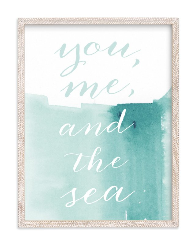 """You Me Sea"" - Art Print by Lindsay Megahed in beautiful frame options and a variety of sizes."