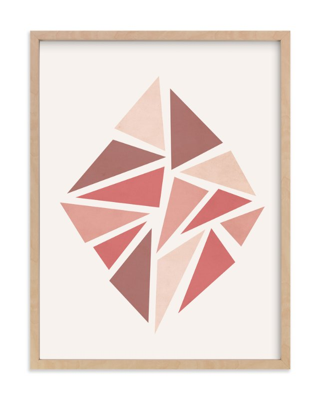 """Shattered Series Diamond"" - Art Print by Jennifer Morehead in beautiful frame options and a variety of sizes."