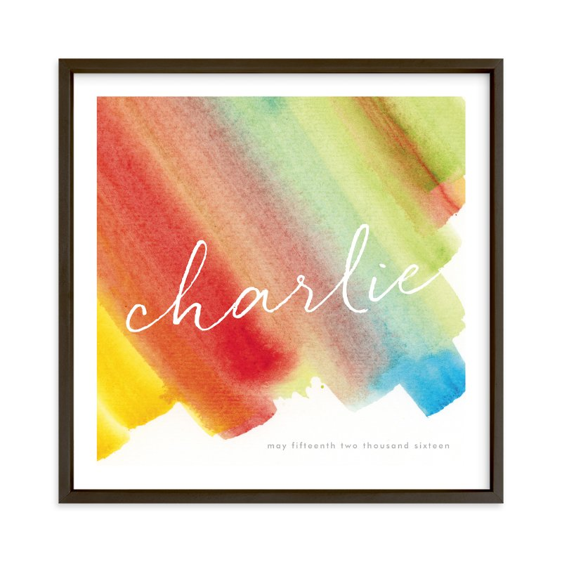"""Color Bands"" - Children's Custom Art Print by Lindsay Megahed in beautiful frame options and a variety of sizes."
