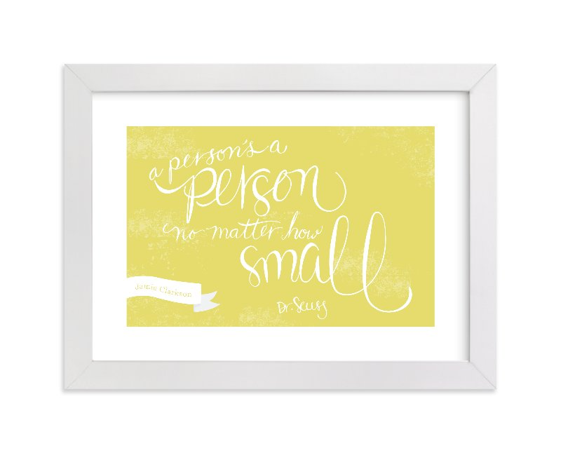 """No Matter How Small"" - Nursery Custom Art Print by Sharon Rowan in beautiful frame options and a variety of sizes."
