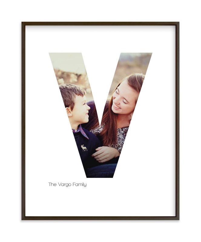 """V - Within Letters of You"" - Children's Custom Photo Art Print by Heather Francisco in beautiful frame options and a variety of sizes."