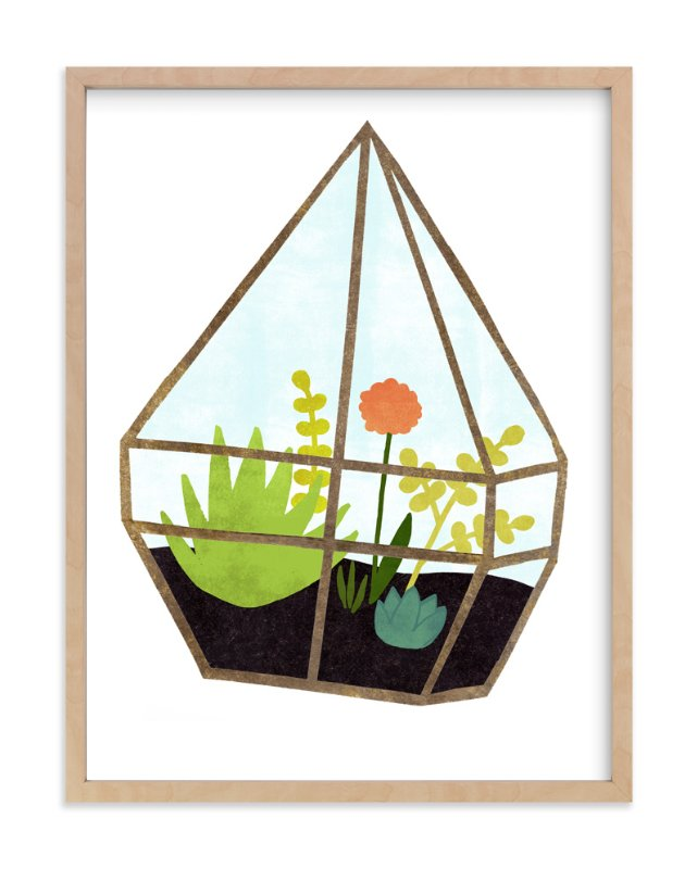 """""""Terrarium 1"""" - Art Print by Kelly Nasuta in beautiful frame options and a variety of sizes."""