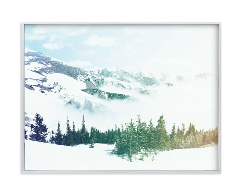 """""""Mountainside Magic"""" - Art Print by Jessie Steury in beautiful frame options and a variety of sizes."""