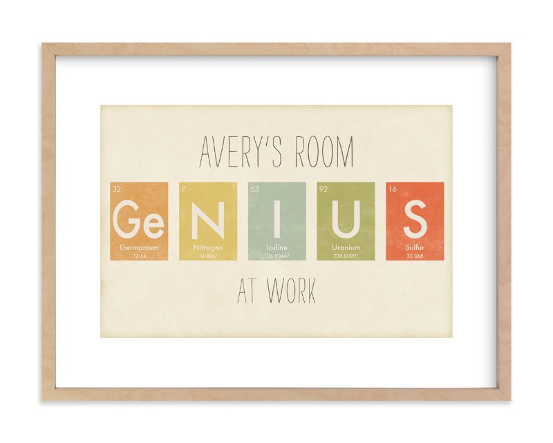 """Elemental Series Genius"" - Children's Custom Art Print by Jennifer Morehead in beautiful frame options and a variety of sizes."