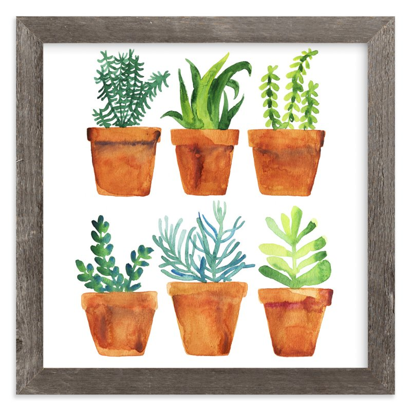 """Home garden"" - Art Print by Alexandra Dzh in beautiful frame options and a variety of sizes."