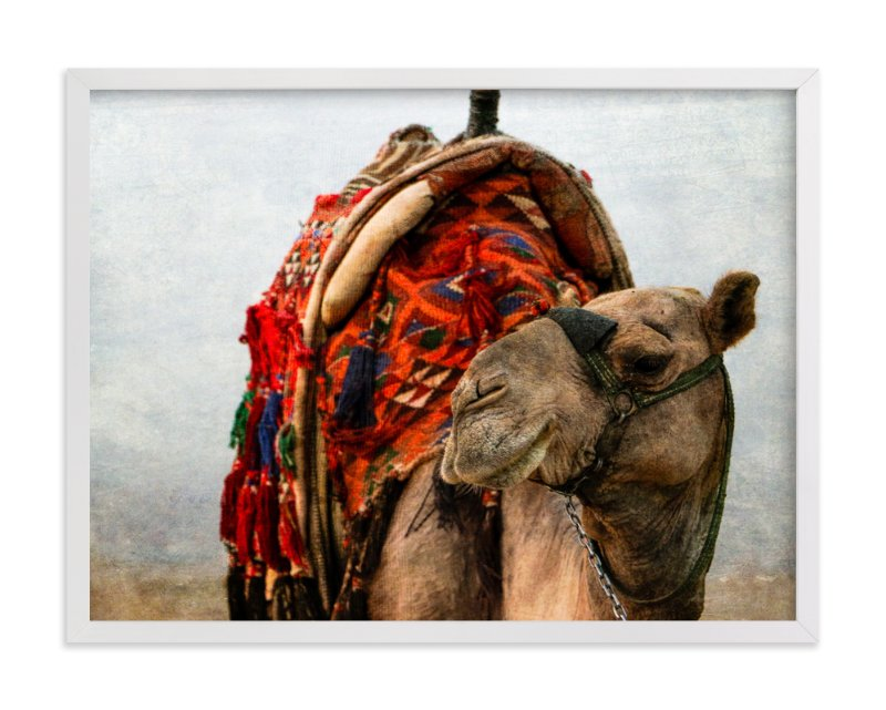 """""""Grinning Camel"""" - Art Print by Heather Squance in beautiful frame options and a variety of sizes."""