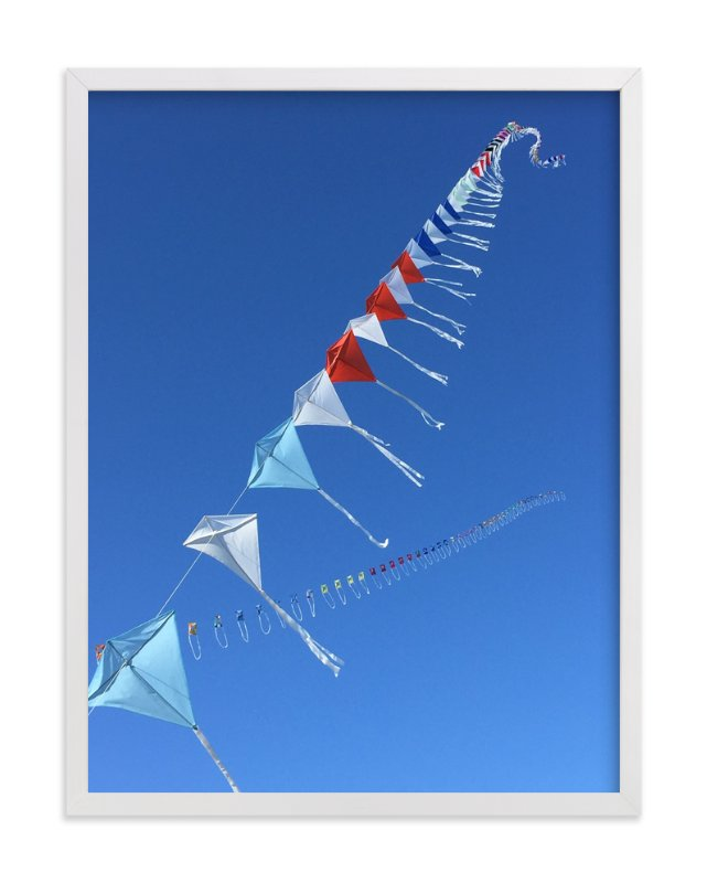 """Fly A Kite 2"" - Art Print by Jan Kessel in beautiful frame options and a variety of sizes."